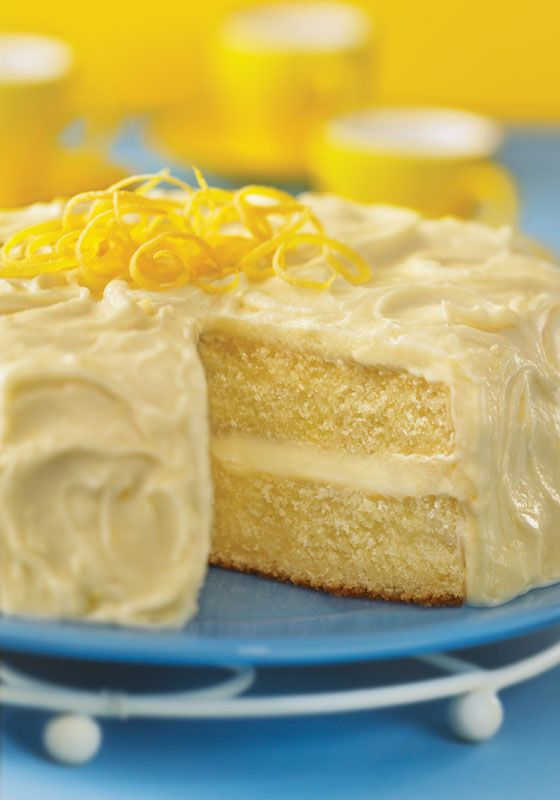 Bright and tangy, this cake will appeal to adults and children. Once frosted, it will keep in the refrigerator, loosely wrapped in foil or waxed paper, for up to three days.