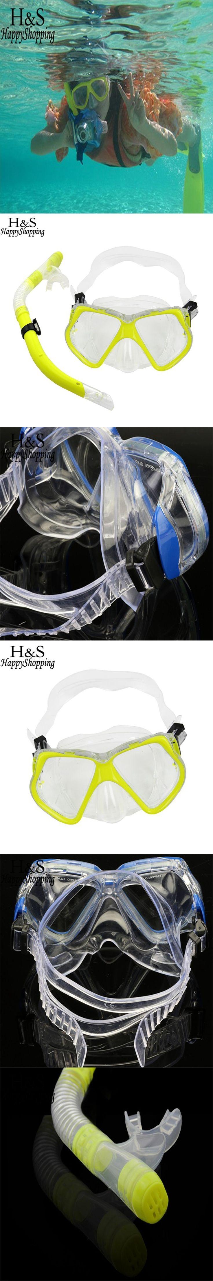 2017 New Underwater Sea Scuba Diving Snorkeling Mask Swimming Glasses + Dry Snorkel Set Scuba Snorkeling Gear Kit Pool Equipment