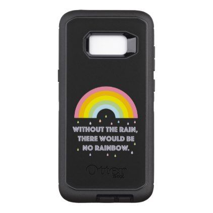 Rainbow Inspirational and Motivational Quote OtterBox Defender Samsung Galaxy S8 Case - quote pun meme quotes diy custom