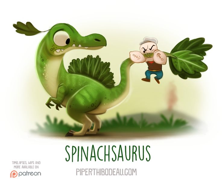 Daily+Paint+1545.+Spinachsaurus+by+Cryptid-Creations.deviantart.com+on+@DeviantArt
