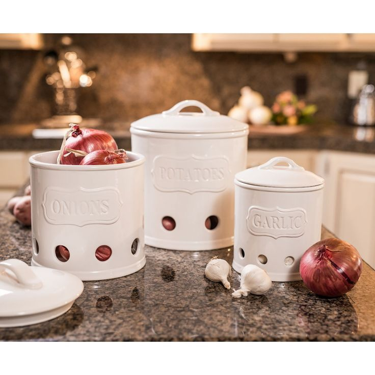 Piece Kitchen Canisters, White  Kitchen Canisters, Canisters and