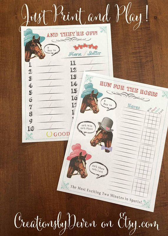 This is an image of Geeky Kentucky Derby Post Positions Printable