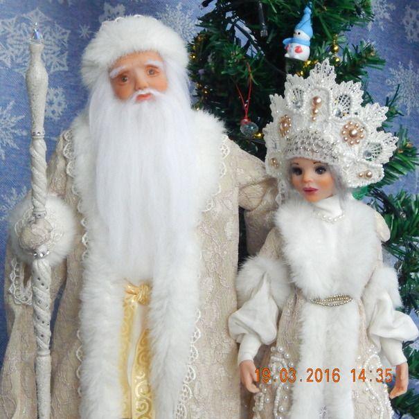 Ручная работа Дед мороз и Снегурочка