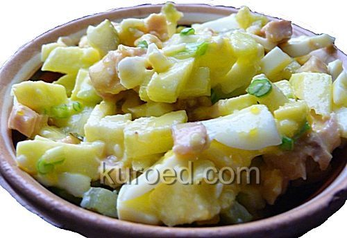 Салат из индейки с яблоками