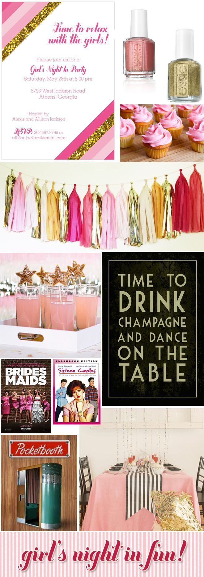 Party tips, party photos, and inspiration for throwing a Girls' Night In Party! Find resources, ideas from real parties, and more!