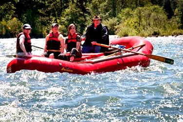 North Santiam River Trips -- River trips for groups of 4-24 on the North Santiam River, between Detroit Lake and the Willamette River. Enjoy fishing, wildlife viewing and historic tales of the river.