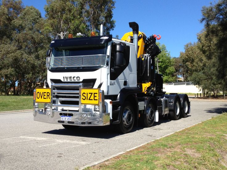 Custom built crane truck for CBH Perth