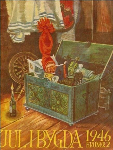 Jul i bygda, 1946 - Artist Kjell Aukrust. Pinned from https://www.facebook.com/DetGamleNorge?fref=photo