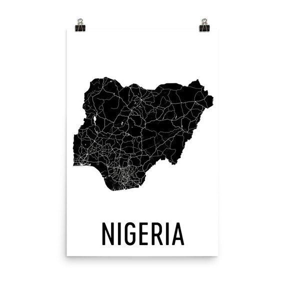 Nigeria Map, Map of Nigeria, Nigeria Art, Nigeria Decor, Nigerian Art, Nigeria Print, Nigeria Poster, Nigeria Wall Art, Nigeria Gifts  URL : http://amzn.to/2mOD07b 50% Discount Code :  QP4BKMDQ