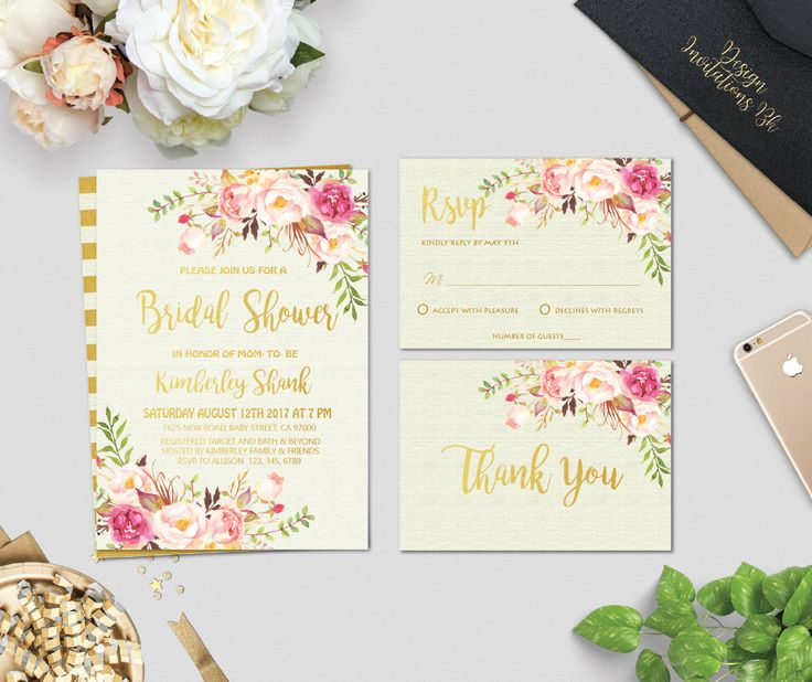 Bridal Shower Invitation, Bridal Shower Invitation Printable, Boho Bridal Shower Invitation, Gold Glitter Bridal Shower Invitation, DIY by designinvitationsbk on Etsy