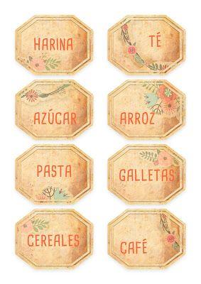 imprimibles gratis etiquetas para comida