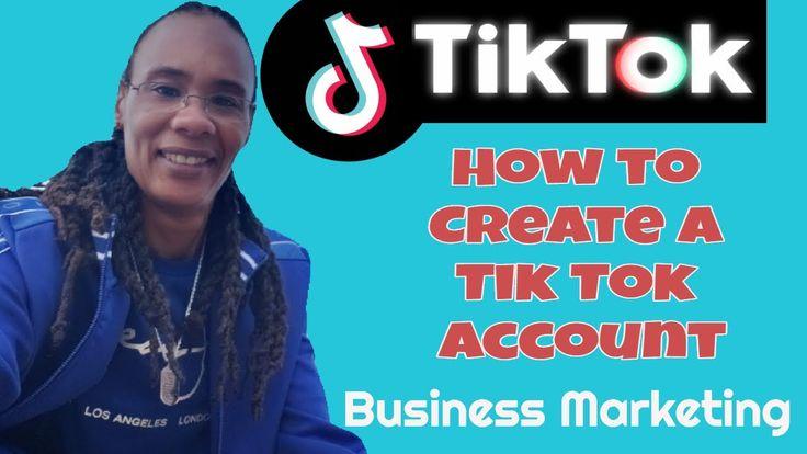 How to create a new tik tok account tiktok marketing