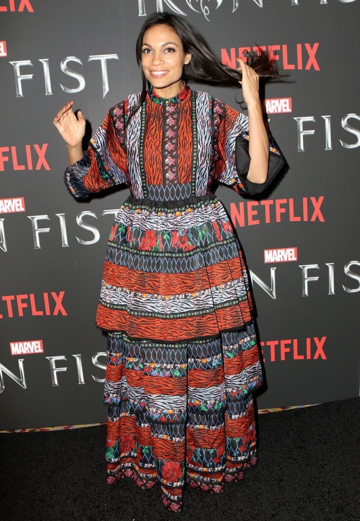 Rosario Dawson  #RosarioDawson Iron Fist TV Series Premiere in NYC 15/03/2017 Celebstills R Rosario Dawson