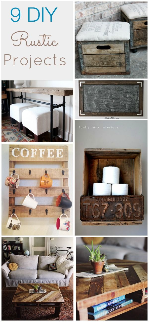 Be sure to follow us on Pinterest and Instagram to never miss a thing!!Hey Everyone!! Is anyone else still loving all the rustic home decor that has been so popular lately!! I personally love to mix old with new! It brings a certain warmth to my space. Today for favorite things Friday I have rounded up 9 rustic DIY …