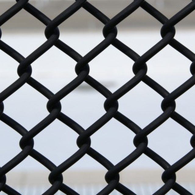 A well maintained chain-link fence