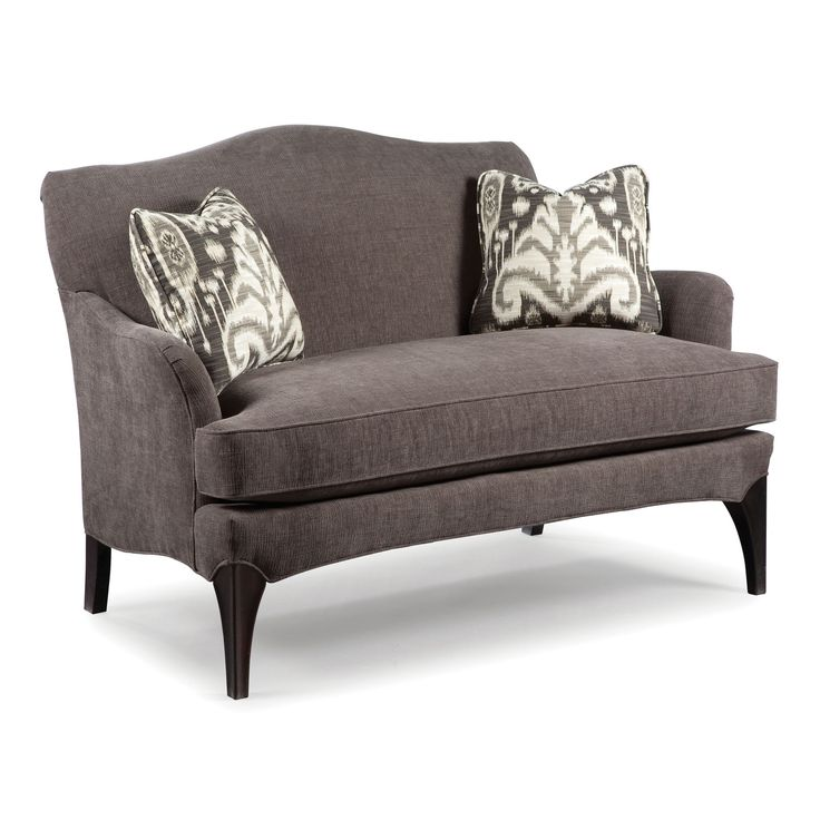 Sofa Accents Contemporary Styled Settee Sofa With Exposed Wood Legs By  Fairfield   Belfort Furniture   Love Seat Washington DC, Northern Virginia,  ...