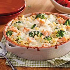 Gratin de macaronis au saumon et brocoli - Recettes - Cuisine et nutrition - Pratico Pratique - Gratiné