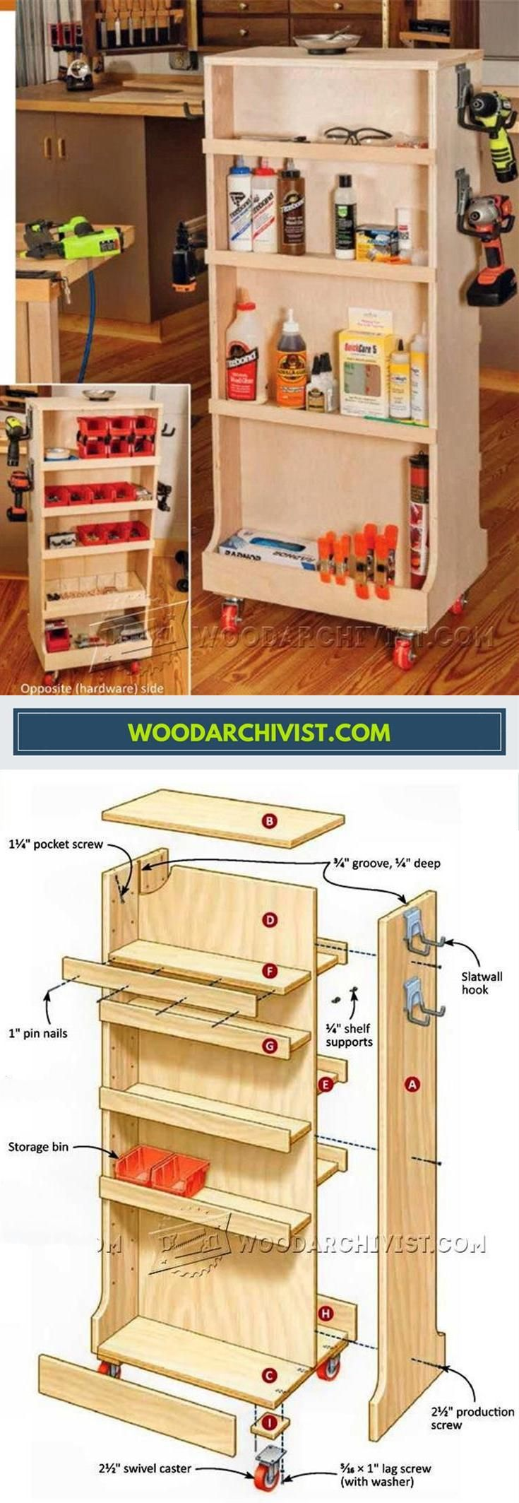 Mobile Shop Cart Plans - Workshop Solutions Projects, Tips and Tricks | WoodArchivist.com