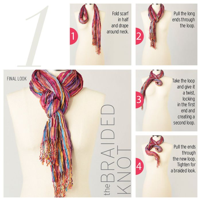 25 best ideas about scarf knots on scarf