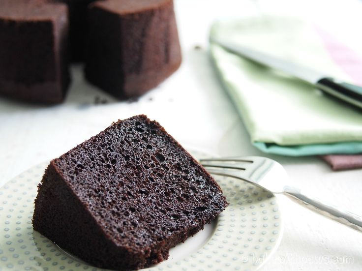 Japanese dark chocolate chiffon cake