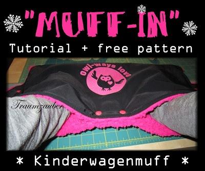 Kinderwagenmuff - Tutorial + free pattern Stroller handle muff