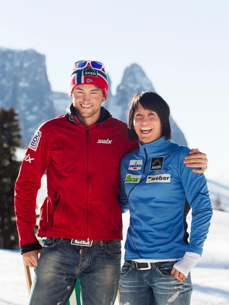 The King and Queen of crosscountryskiing Petter Northug jr & Marit Björgen ❤