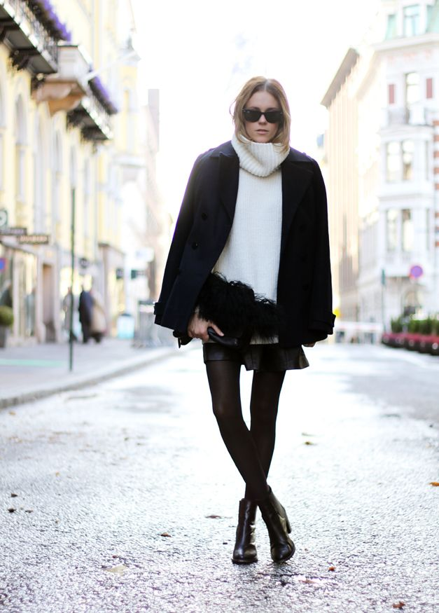 Outfit | Oversized turtleneck