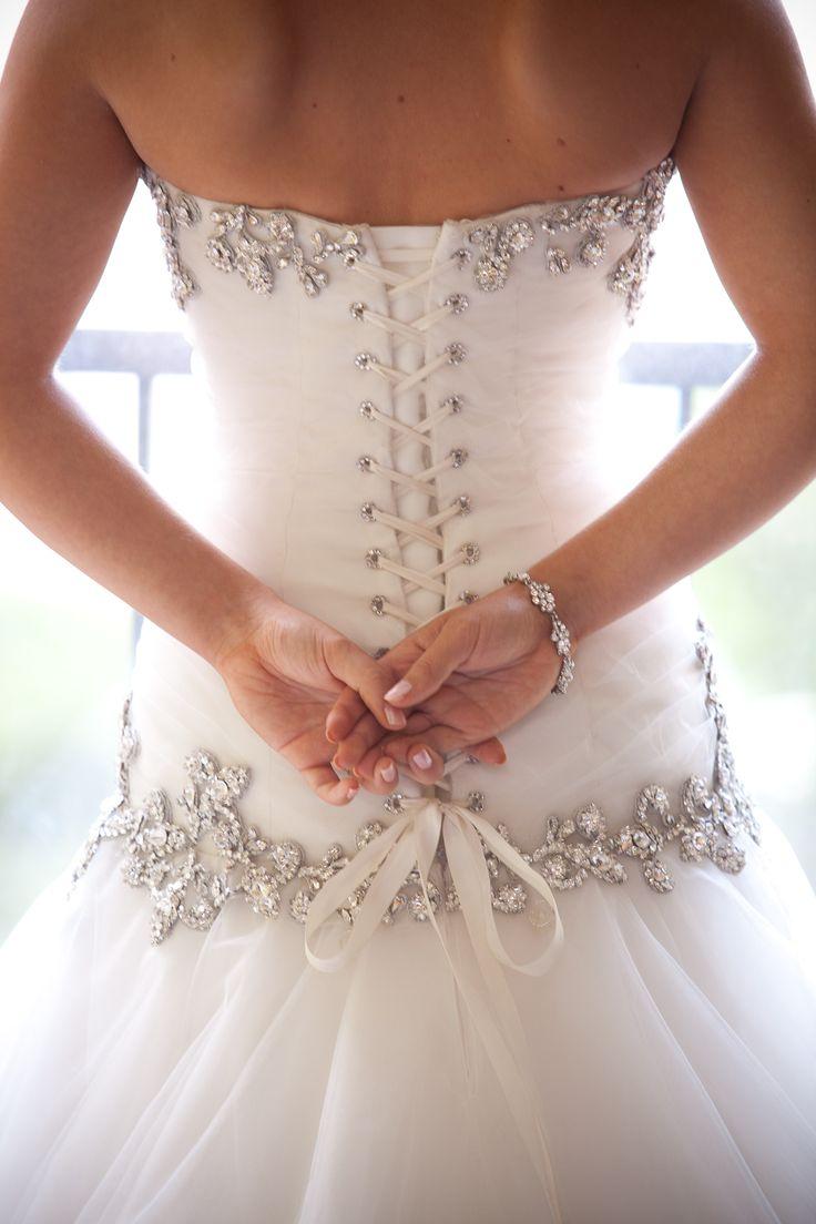 Corset back of my Pnina wedding dress