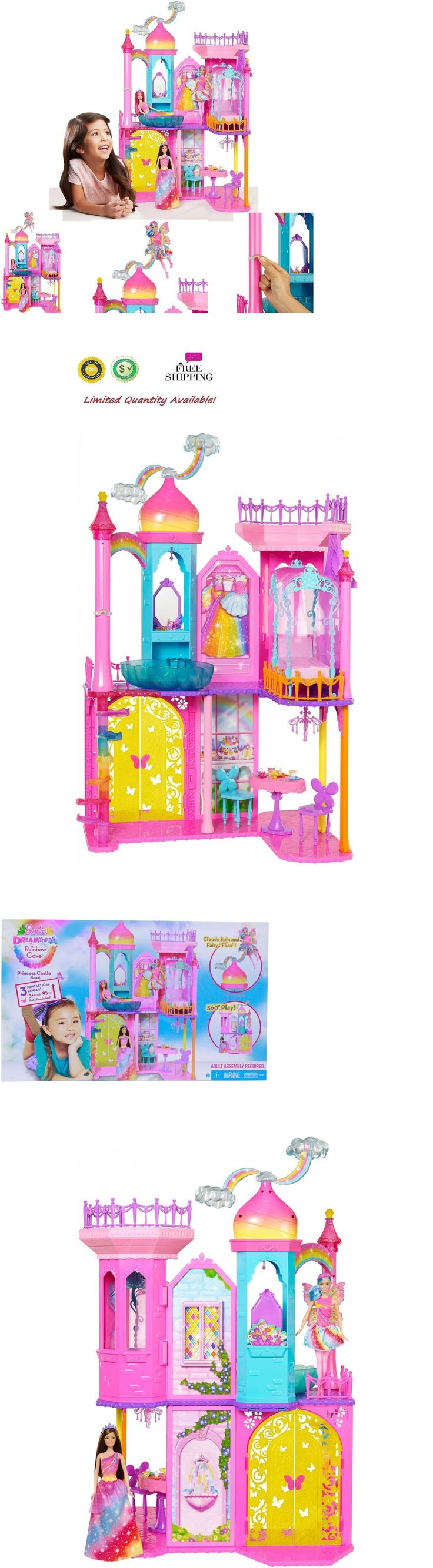 Other Classic Toys 19027: Girls Barbie Dream House Rainbow Princess Cove Castle Playset + Accessories Fun -> BUY IT NOW ONLY: $76.35 on eBay!