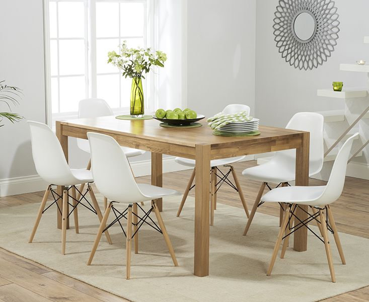 Verona 150Cm Solid Oak Extending Dining Table With Charles Eames Magnificent Oak Dining Room Furniture Inspiration