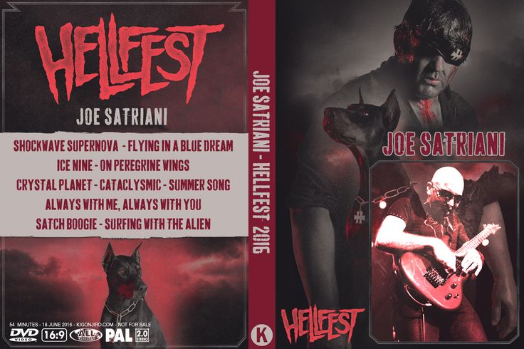 Joe Satriani Hellfest 2016-06-18 Clisson, France Arte Concert VOD Stream PRO-SHOT, PAL, 16/9 Authored w/DVD Studio Pro 54.51 Minutes Artwork included Video: MPEG-2, 720 x 576, 16/9, 25 fps Audio: MP2 2.0, 48 kHz, 128 kpbs 1. Shockwave Supernova 2. Flying In A Blue Dream 3. Ice Nine 4. On Peregrine Wings 5. Crystal Planet 6. Cataclysmic 7. Summer Song 8. Always With Me, Always With You 9. Satch Boogie 10. Surfing With The Alien