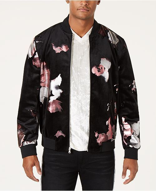 cc4e676d2 INC International Concepts I.N.C. Men's Abstract Floral Bomber ...