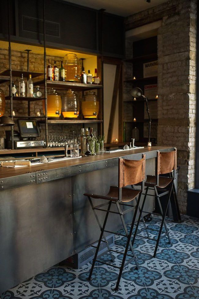 Industrial home bar designs for your new