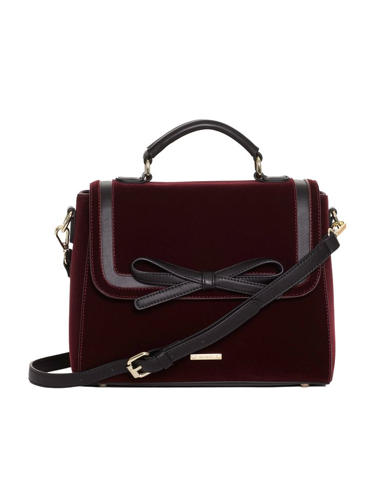 Bexley Bag | Wine | Velvet Handbags