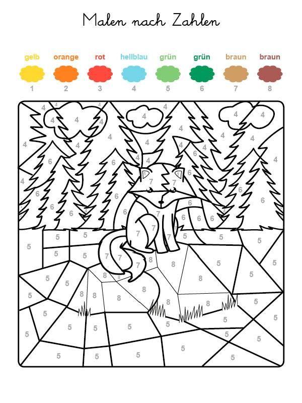 Wenn Ihr Kind Das Ganze Motiv Auf Der Kostenlosen Malvorlage Mit Den Farben Ausgemalt H Malen Nach Zahlen Kinder Kostenlose Malvorlagen Kostenlose Ausmalbilder