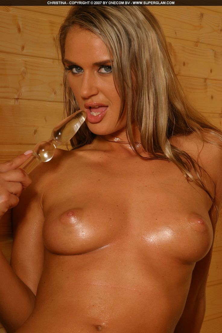 Stunning hot blonde with gorgeous body in the sauna!