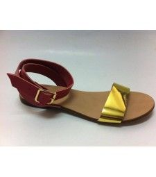 Sandale cu talpa joasa Golden Red