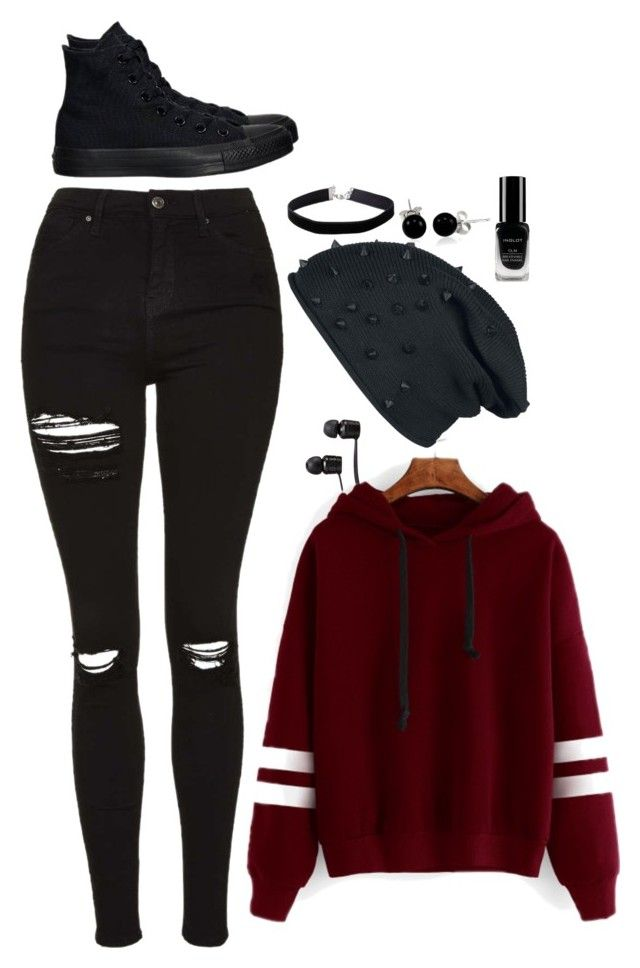 """""""Untitled #46"""" by rixzs ❤ liked on Polyvore featuring Vans, Topshop, Converse, Miss Selfridge, Bling Jewelry, Inglot, casualoutfit and Fall2016"""