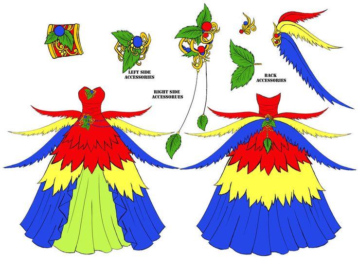 Macaw Dress Design by Eranthe on deviantART