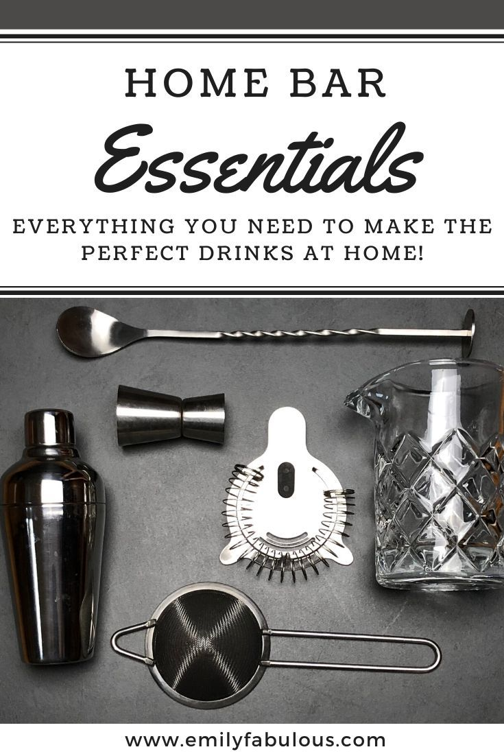 A complete Home Bar Tool List to help you make the best cocktails. If you make cocktails at home or love to entertain, y…