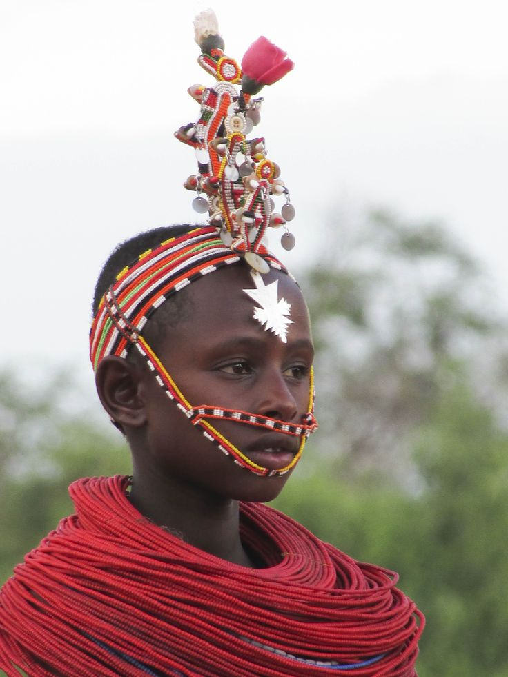 A young Samburu boy dressed in traditional finery. #Africa #Kenya #Travel #people #Faces