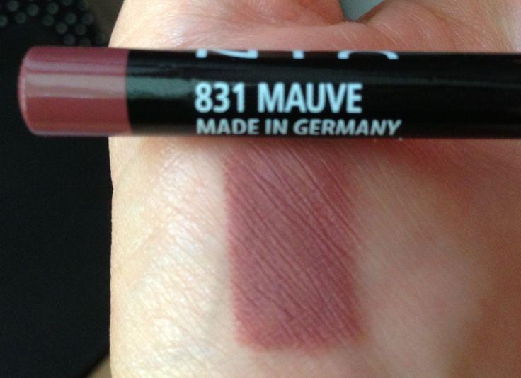 "NYX Mauve Lip Pencil P.S. Goes well with ""Stila All Day Liquid Lipstick in Patina"""