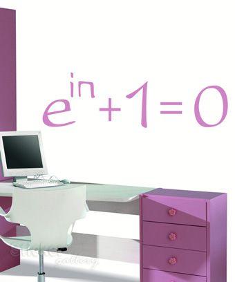 Euler's Identity Wallsticker  Αυτοκόλλητα τοίχου για φροντιστήρια - Ταυτότητα Euler - διακόσμηση φροντιστηρίων και εκπαιδευτηριών