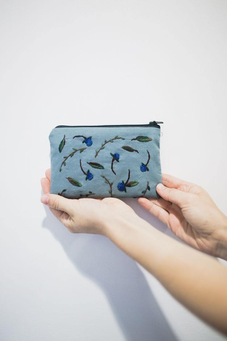 hand-embroidered purse by Cedric & Melody
