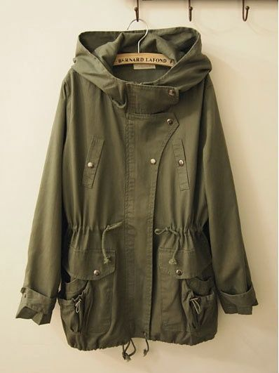 army green anorak - dying for one like this!
