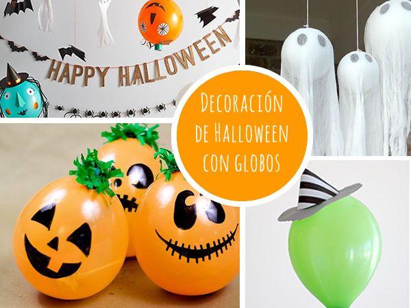 Manualidades Halloween: decoración con globos