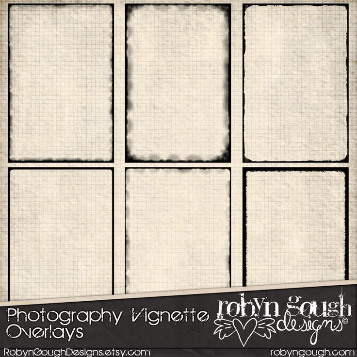 Photography Vignette Digital Overlays ClipArt - Photo & Digital Scrapbooking Overlay Frames by Robyn Gough Designs on Etsy