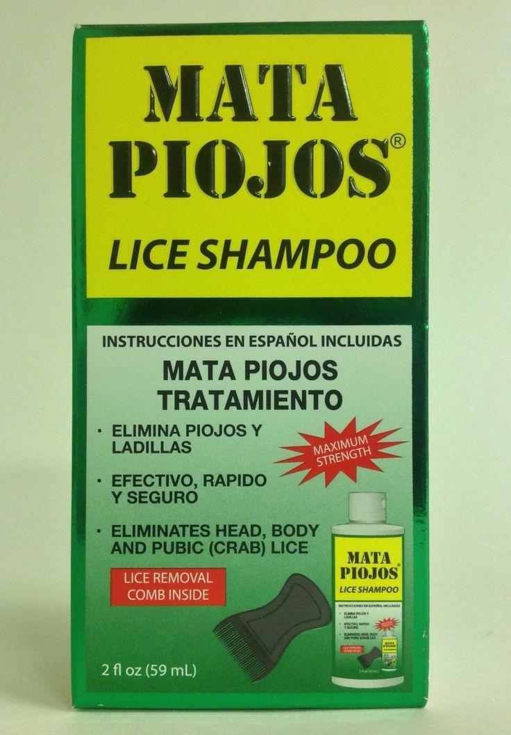 Medicated Hair Treatments: Shampoo Mata Piojos 2 Oz - Effective Lice Treatment Shampoo BUY IT NOW ONLY: $47.99