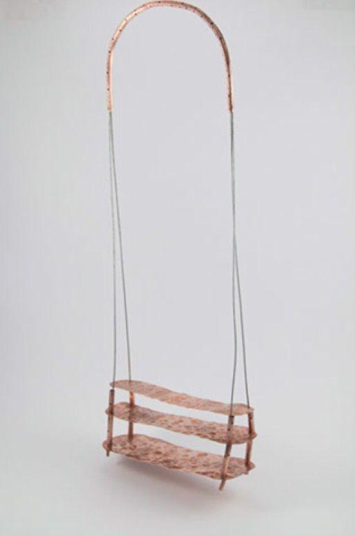"""Colgante de la serie puentes """" tercer nivel"""" escogido y expuesto en la 1 bienal latinoamericana de joyería contemporánea Buenos Aires  Argentina 2016"""