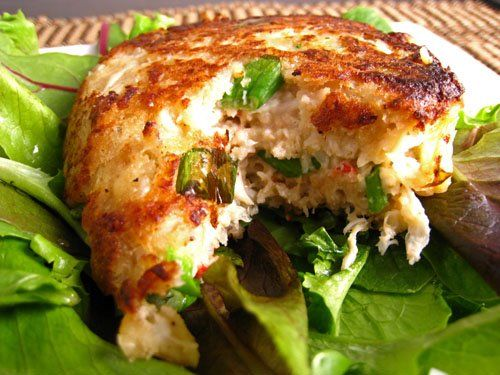 Maryland Crab Cakes Recipe - 3 Points WW I was skeptical but it turned out to be quite good,  paired especially well with steamed zucchini and summer squash.